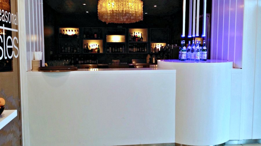 Yaxis YA0047 Solid Surface Bar Counter Round Thermoforming Westin Hotel Langkawi