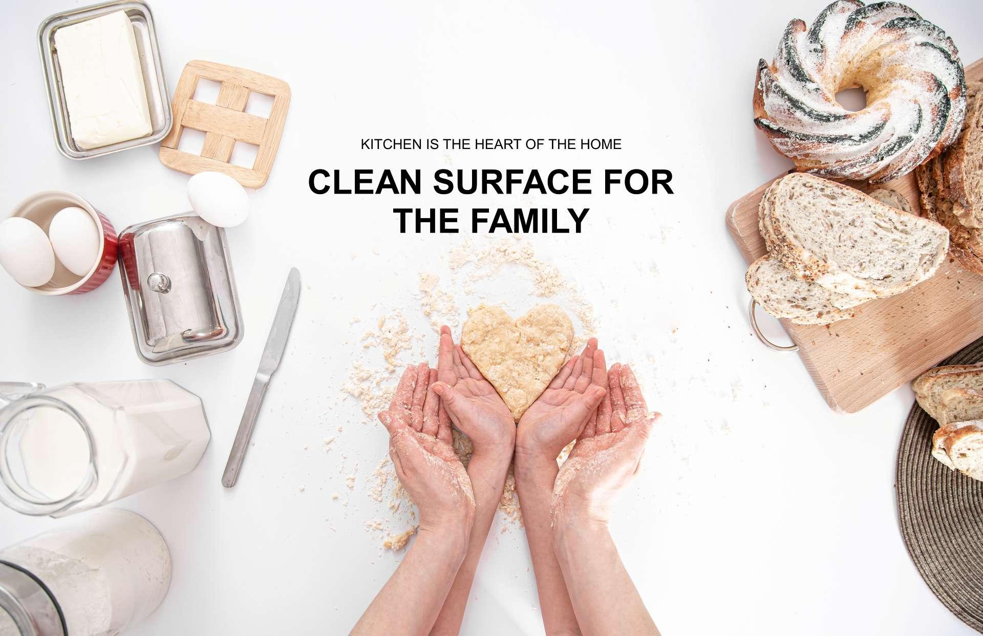 Yaxis Kitchen Top Clean Safe Hygienic Corian Hi Mac Staron