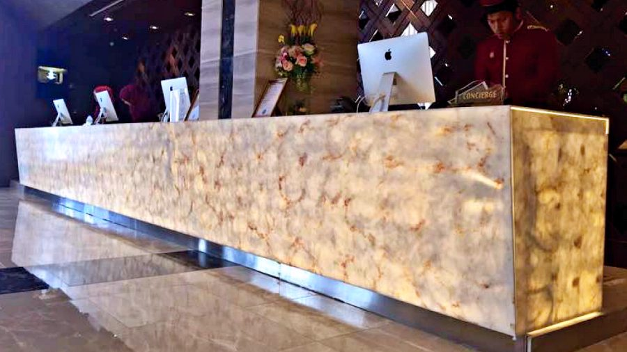 Yaxis YA0089 Andalusite Solid Surface Concierge Counter Bangkok-A