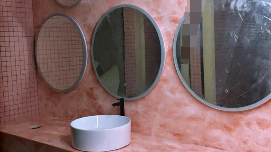 Yaxis YA 9086 Magnolia Solid Surface Washroom Vanity Counter Wall Cladding